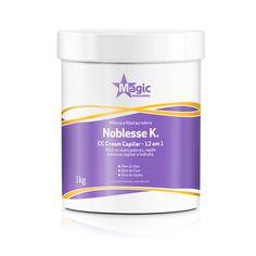 Um produto. Doze benefícios. Com a máscara Noblesse K., você tem um tratamento completo em um produto que, além de cuidar dos cabelos, é ideal para diluir os matizadores da Magic.