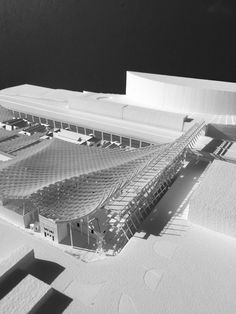 Image 10 of 24 from gallery of Kengo Kuma and OODA Win Competition to Redevelop Porto Slaughterhouse. Image Courtesy of Kengo Kuma & Associates + OODA Kengo Kuma, Win Competitions, Metro Station, Local History, Portugal, Model Building, The Locals, The Neighbourhood, Architecture Models