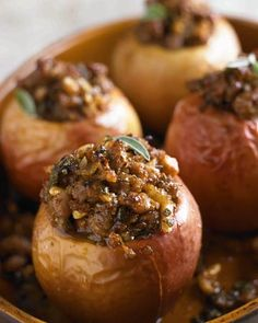 Grill-Baked Apples with Sweet Sausage Stuffing Recipe