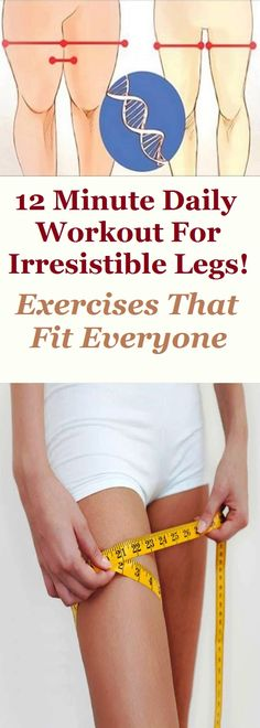 12 Minute Daily Workout for Irresistible Legs! Group Fitness, Wellness Fitness, Yoga Fitness, Fitness Tips, Fitness Motivation, Health Fitness, Best Inner Thigh Workout, Lower Belly Workout, Lose Thigh Fat