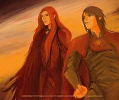 It's our war no longer by ~eilan on devianart    Maedhros and Maglor at the Isle of Balar during the War of Wrath