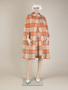 Skirt and cape, Pierre Cardin, 1967-69