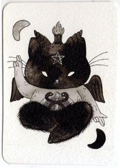 Daily scary cat drawings during October. Witch Drawing, Cat Drawing, Kawaii Art, Kawaii Anime, Dessin Old School, Scary Drawings, Creepy Cat, Satanic Art, Sugar Skull Cat