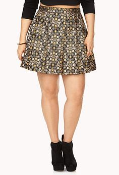 Plus Festive Tapestry Skirt Plus Size Skirts, Plus Size Outfits, Burberry Leather Jacket, Mommy Style, Dress Me Up, Dress To Impress, Plus Size Fashion, Fashion Beauty, Forever 21