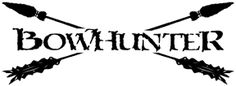 WESTERN RECREATION IND Bowhunter Decal 6x12, EA