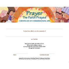2016 Catechetical Sunday Certificate (English)
