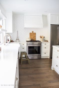 Kitchen renovation, gold accents / My Big Beautiful Kitchen Renovation - Before and After Photos