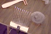 The Joy of Handspinning – Hand spinning wool into yarn with a spinning wheel or drop spindle » How to Prepare Fiber With Dutch Combs