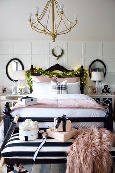 ideas for white bedroom furniture decor ideas night stands Cozy Bedroom, Trendy Bedroom, Home Decor Bedroom, Modern Bedroom, Diy Home Decor, Bedroom Ideas, Bedroom Black, Bedroom Bed, Bedroom Designs