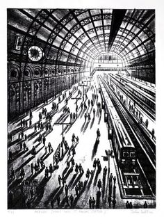 Arrival (King's Cross, St Pancras Station) by John Duffin | Artfinder