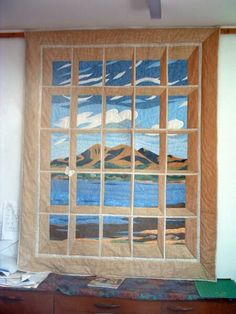 nice perspective on this attic windows quilt