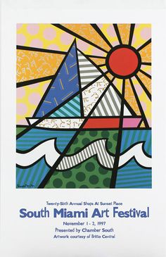 i love the artist Romero Britto. his funky prints are cool. his gallery is on South Beach.