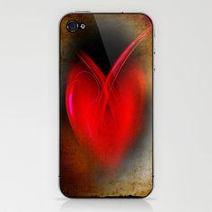 Heart iPhone & iPod Skin by Digital-Art - $15.00