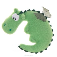 "Sewn toy magnet ""Green Dragon"" - Manual work of authorship"