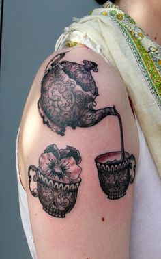I don't like the flower but I am really falling in love with a teapot as a tattoo.