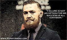 McGregor doesn't see failure as an option.