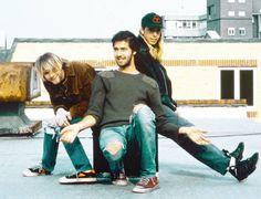 Nirvana in London, UK. October 21st, 1990. Photograph by Lorna Van Bel