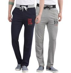 56d97ebac0c Buy the best  Grey Navy Blue Cotton Track  pants Online at maniaclife.com