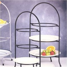 Creative Home Iron Works 3 Tier Dinner Plate Rack  sc 1 st  Pinterest & The Large Serving Stand and Plate Holder makes buffet style parties ...