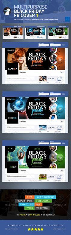Multipurpose Black Friday Facebook Cover 1 - $2