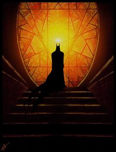 #batman# stain glass