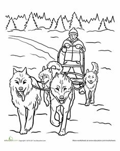 Browse free animal coloring pages & color the picture of your favorite animal. All our coloring pages of animals are fun and easy to print Coloring Pages Winter, Dog Coloring Page, Animal Coloring Pages, Colouring Pages, Adult Coloring Pages, Coloring Books, Coloring Sheets, Winter Scenery Pictures, Operation Arctic