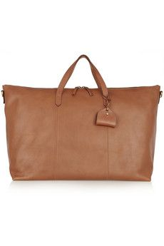 Madewell The Transport textured-leather weekend bag | NET-A-PORTER