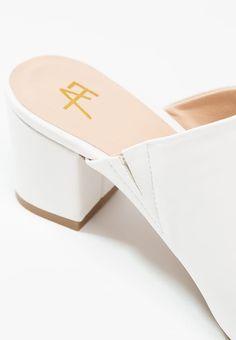 Anna Field Pantolette hoch - white - Zalando.de