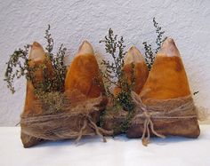 TWO Sets Handmade Primitive Candy Corn Tuck by cavecreekprimitives