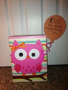 Owl - valentine box