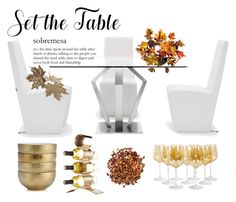 """""""Set the Table"""" by cherieaustin ❤ liked on Polyvore featuring interior, interiors, interior design, home, home decor, interior decorating, Improvements, Lunares and setthetable"""