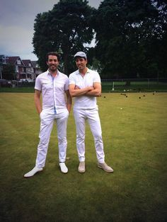 Who wore it better.... @Jonathan Silver Scott or me? #lawnBowlingFashion