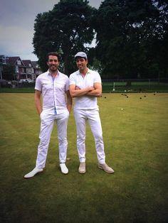Who wore it better.... @Jonathan Silver Scott or me? #lawnBowlingFashion
