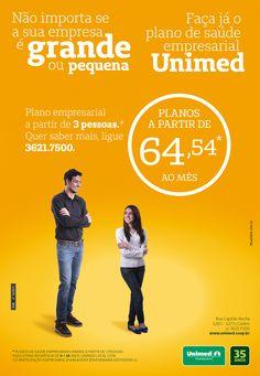 Peça: Flyer Projeto: Planos empresariais Cliente: Unimed  Praça: Guarapuava #publicidade #Unimed #agenciadepublicidade #agencia