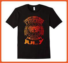 Mens Happy Birthday - Zodiac - Legends are born in July T-Shirt Large Black - Birthday shirts (*Partner-Link)