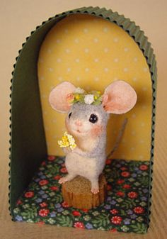 cute mouse with big ears