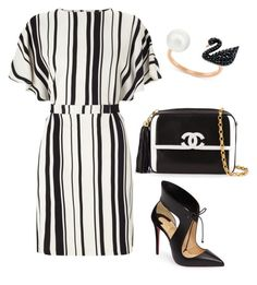 """""""Untitled #556"""" by mchlap on Polyvore featuring Miss Selfridge, Chanel, Christian Louboutin and Swarovski"""