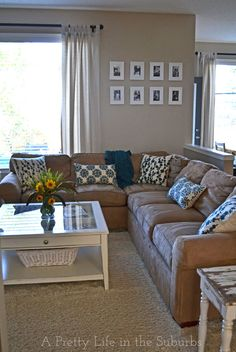 A Late Summer Living Room Refresh - refresh your home for the changing seasons with simple things like new pillows, flowers and simple accents!