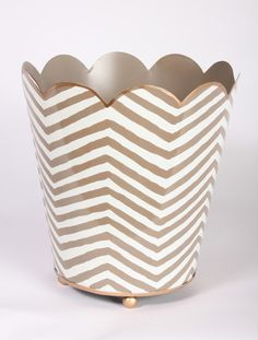 Dwell Chic — Safari Taupe Decorative Wastebasket ---don't like pattern tho, 68