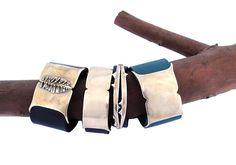 Samantha Grisdale leather cuffs.  Amazing!