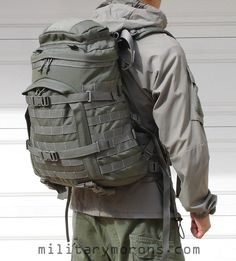 Kifaru X-Ray. Pricey, but I personally believe this to be one of the best urban bug out bags currently available. It's fine, without being too big or heavy. It can be ordered how you like it, and fit to your torso. It has MOLLE/PALS all over the outside, so that you can expand as necessary or lash things to it that you might need. Organization is great, too.