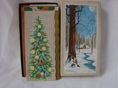 Wonderful Box of Unused Christmas Cards Die by BudandLouVintage