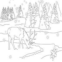 Nicoles Free Coloring Pages Dear to me Deer  coloring pages