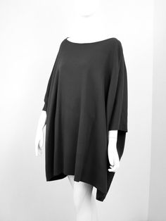 Tunique enveloppante Bell Sleeves, Bell Sleeve Top, Pulls, Blouse, Long Sleeve, Fashion, Leather Trousers, Tunic, Dress