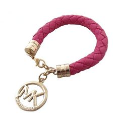 Michael Kors Braided Logo Pink Bracelets Is Going To Have Great Discount.Come To Buy. #accessories