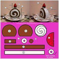 Swiss Roll Cake Pattern... by SongAhIn http://www.deviantart.com/art/Swiss-Roll-Cake-Pattern-259338576