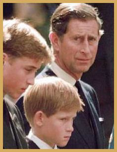 at Diana's Funeral - you just had to wonder what was going through Charles' mind....I hope he felt guilty for mistreating Diana so much during her life with him.