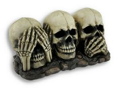 See, Hear and Speak No Evil Skulls Statue