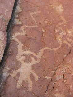 Unusual human-like figure petroglyph.  Fremont Indian State Park and Museum, Utah.