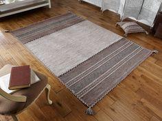 Skilfully hand woven to create this beautiful flatweave Kelim Rug. #flatweaverugs #cottonrugs #kelimrugs #durablerugs